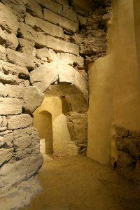 Mura nei pressi di Via Guela a Cortona